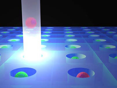 Light trap for sorting cells