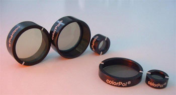 nanoparticle-coated polarizing filters