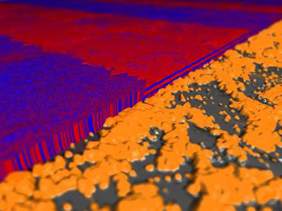 A novel technique for controlling the orientation of nanostructures