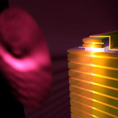 quantum cascade laser patterned with a plasmonic collimator