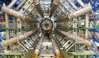 Higgs bosons will be caught in the ATLAS detector's net with its eight magnetic coils