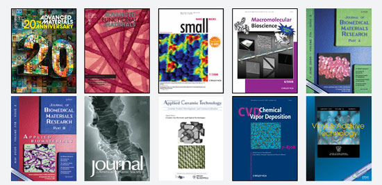 Wiley-Blackwell journals in nanotechnology and materials sciences