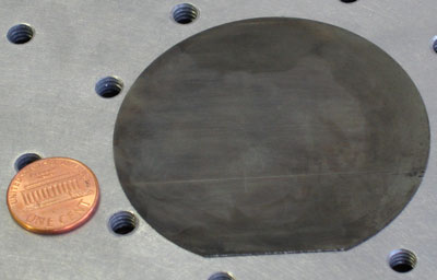 Wafer of the element germanium, a semiconductor that is used as the bottom layer of highly efficient solar power cells