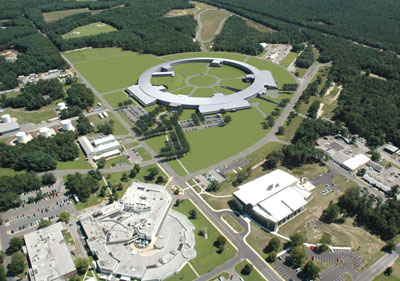 Rendering of the National Synchrotron Light Source II as it will appear on the Brookhaven campus