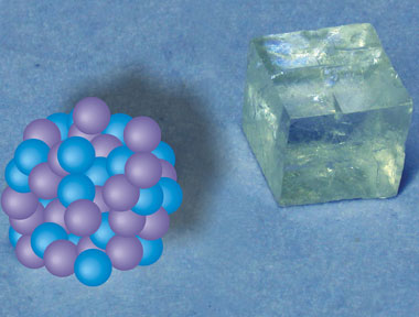A crystal and its earliest precursors: around 70 calcium and carbonate ions come together to form a stable nanocluster