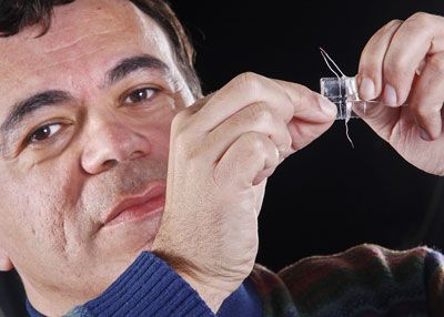 Babak Ziaie created stretchable electronics