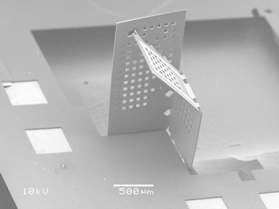 MIT researchers have developed a way to fold nano- and microscale polymer sheets into simple 3D structures