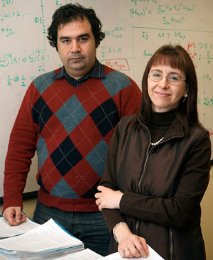 Post-doctoral Fellow Kaveh Khodjasteh and Associate Professor of Physics and Astronomy Lorenza Viola