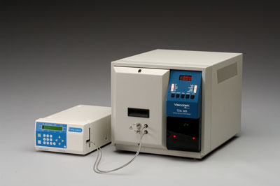The TDAmax gel permeation chromatography/size exclusion chromatography (GPC/SEC) system from Viscotek