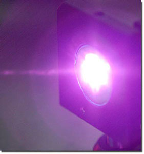 A plasma is generated by a laser pulse similar to how sound is converted to light