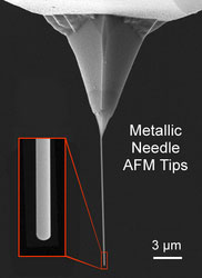 Metal Needle AFM Tips from Nanoscience Instruments and NaugaNeedles