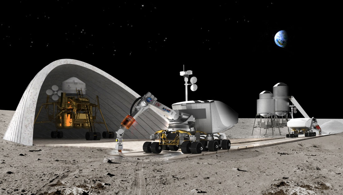 Robotic 3d printing technologies to build a mars base w for Construction habitat