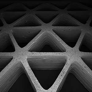 3D-printed triangular honeycombs