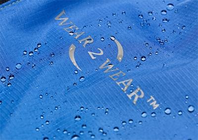 blue waterproof fabric