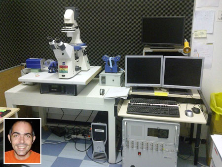 Dr Pierre-Henri Puech and his JPK NanoWizard AFM system