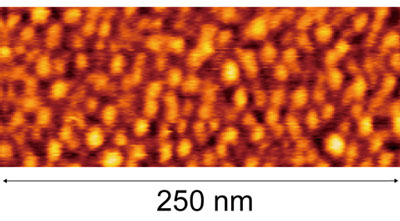ultra-high surface density quantum dots