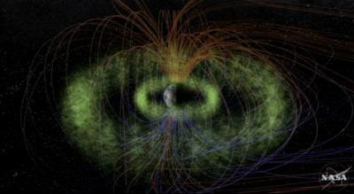 Two giant donuts of charged particles called the Van Allen Belts surround Earth