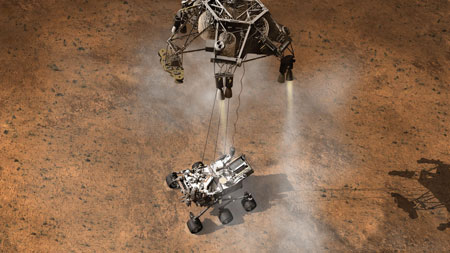 NASA's Curiosity rover touches down onto the Martian surface