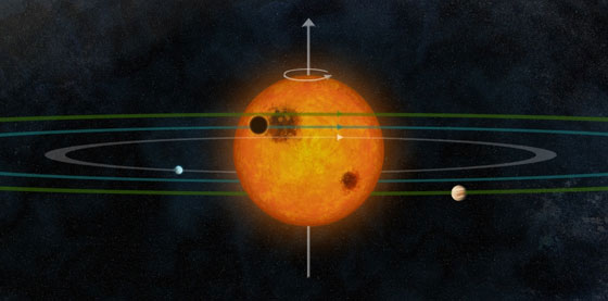 artist interpretation of the planet Kepler-30c