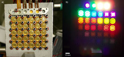 NIST measurement system's LED plate