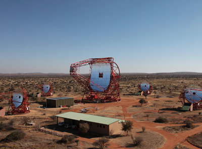 New gamma-eye for the H.E.S.S family: The telescope has a antenna with a diameter of 28 meters and weighs over 6000 tons