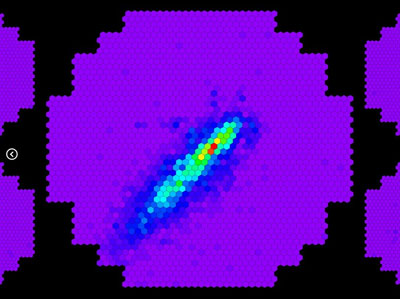 Images of particle cascades viewed simultaneously by the H.E.S.S. II telescope and by the H.E.S.S. I telescopes