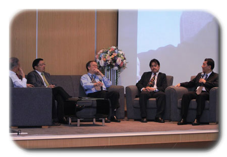 A panel discussion at Lindau Thailand