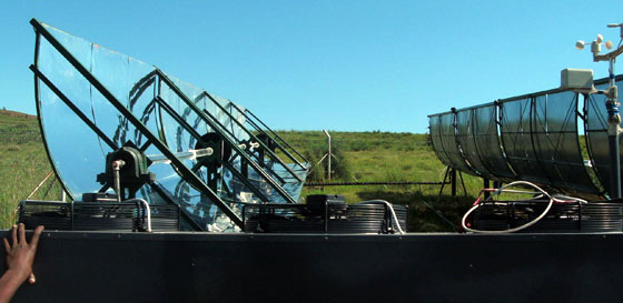 The Solar ORC setup in Lesotho