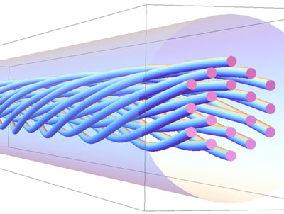 Structure of a photonic crystal fibre