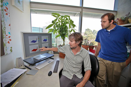 Project Scientist Daniel Hyduke and Ph.D. candidate Joshua Lerman
