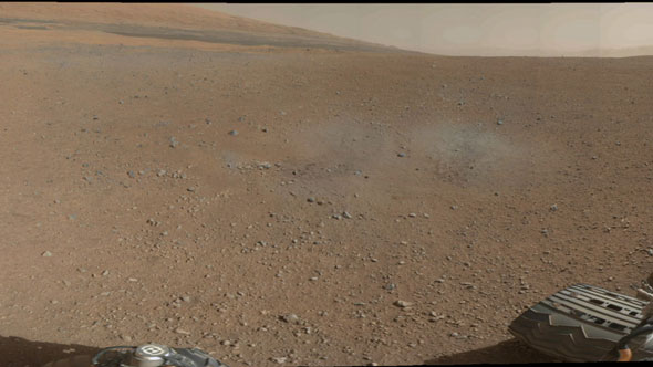 Mount Sharp on the Horizon