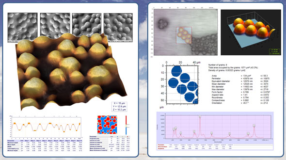 Extracts from Mountains 7 scanning electron microscopy (SEM) and Raman analysis report