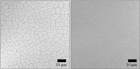 Nanoparticle films cracks