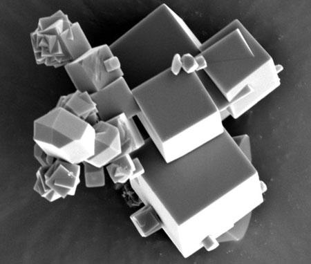 krystaller av en metall-organisk forbindelse