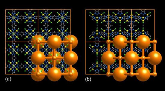 Struktur av et metall-organisk rammeverk