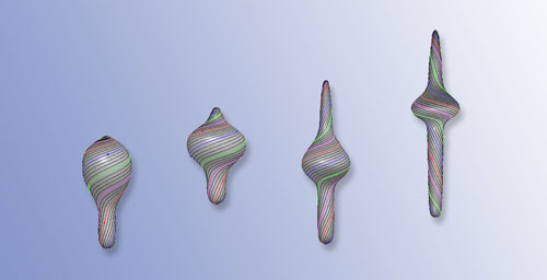 Simulation of euglenid movement
