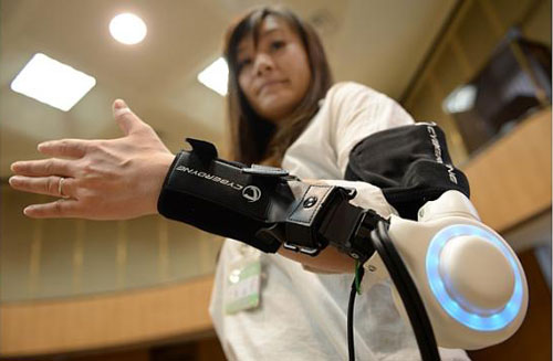 powered exoskeleton to assist movement of an arm