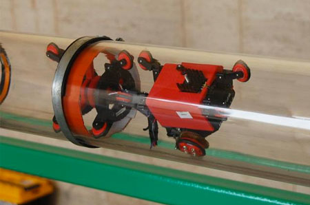 Self Propelled Robotic Device Can Detect Leaks In Pipes