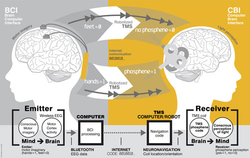 Brain-to-brain communication system overview