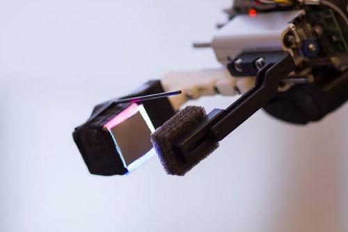 GelSight sensor, attached to a robot's gripper