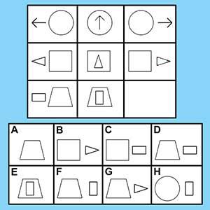 Progressive Matrices standardized test for AI