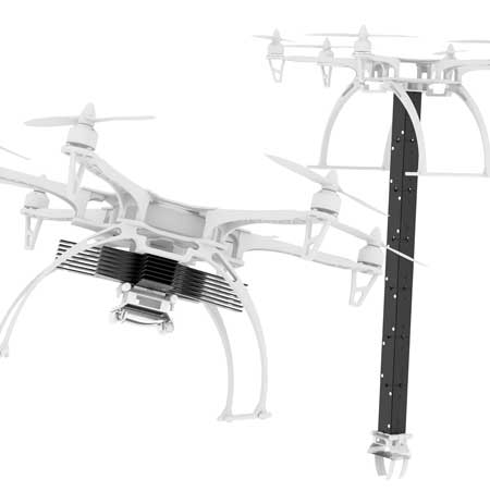 Drones with foldable robotic arm