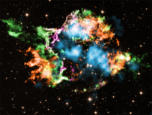 Chandra Image of Elements from Cas A