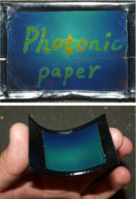 flexible photonic paper