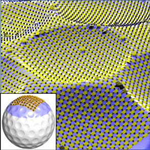 Silicon circuit mesh on the surface of a golf ball