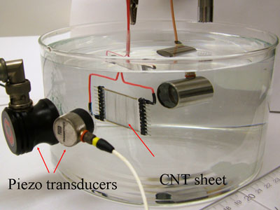 carbon nanotube underwater speaker