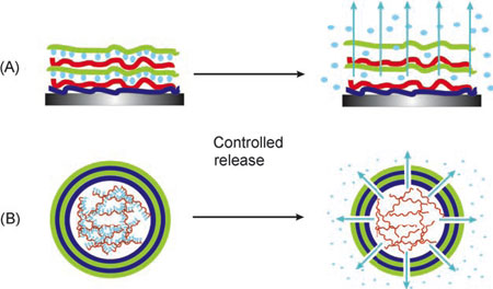 Nanocontainers of self-repairing materials