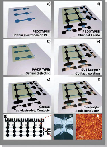 fabrication of printed ferroelectric active matrix sensor arrays