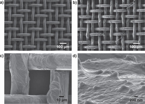 PAM hydrogel-coated mesh
