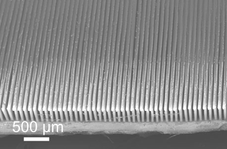 carbon nanotube microfins for chip cooling